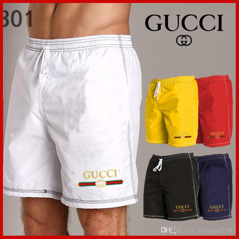 b630bee388 2019 Hot Men's Board Shorts Summer Beach Pants Quick Drying Swimwear Male Swim  Shorts With Liner SBrand Short Sleeve Tshirt Women Tops White