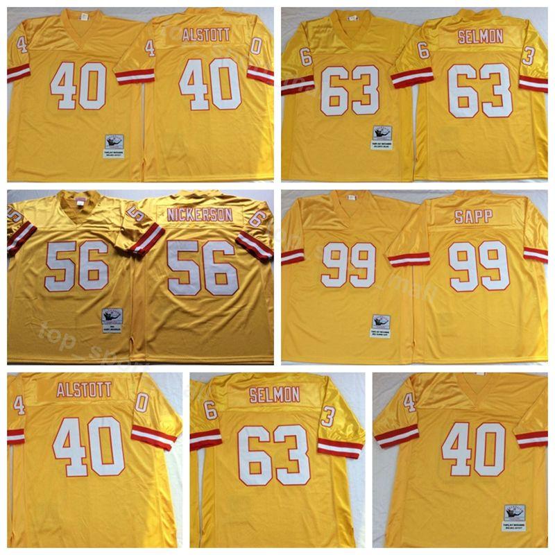 Tampa Bay Buccaneers 63 Lee Roy Selmon Jersey Men 99 Warren Sapp 40 ... 2fbaf9daf