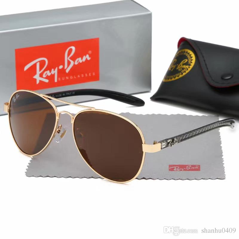 e68da87dfe 2019 Luxury Ray Polarized Sunglasses Men Women Pilot Sunglasses UV400 Eyewear  Aviator Glasses Driver Bans Metal Frame Polaroid Lens Box Sunglasses Shop  ...