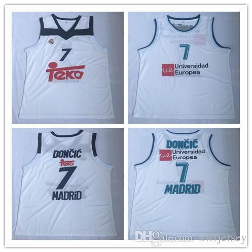 90efd673b Hot Sale European Men s  7 Luka Doncic Universidad Europea  7 Madrid ...