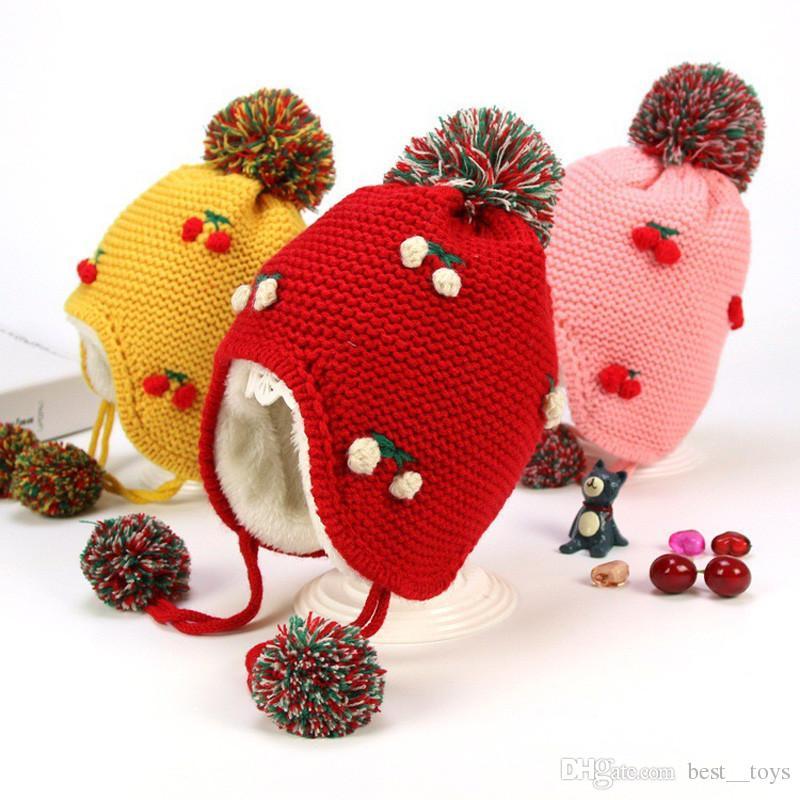 f20cae755b9 2019 Baby Hat Toddler Fleece Lined Winter Earflap Beanie Cream Bear Hat  Little Girl Boy Knit Winter Warm Cap From Best  toys