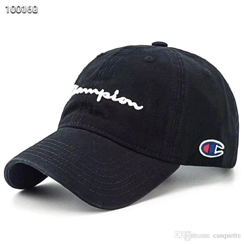973384c562de4 Wholesale High Quality Champion Fade Baseball Caps Hip Hop Hat Curved Visor  Casquette Hats 100% Cotton Gorras Golf Bone Snapback Hat Flexfit Hats For  Men ...