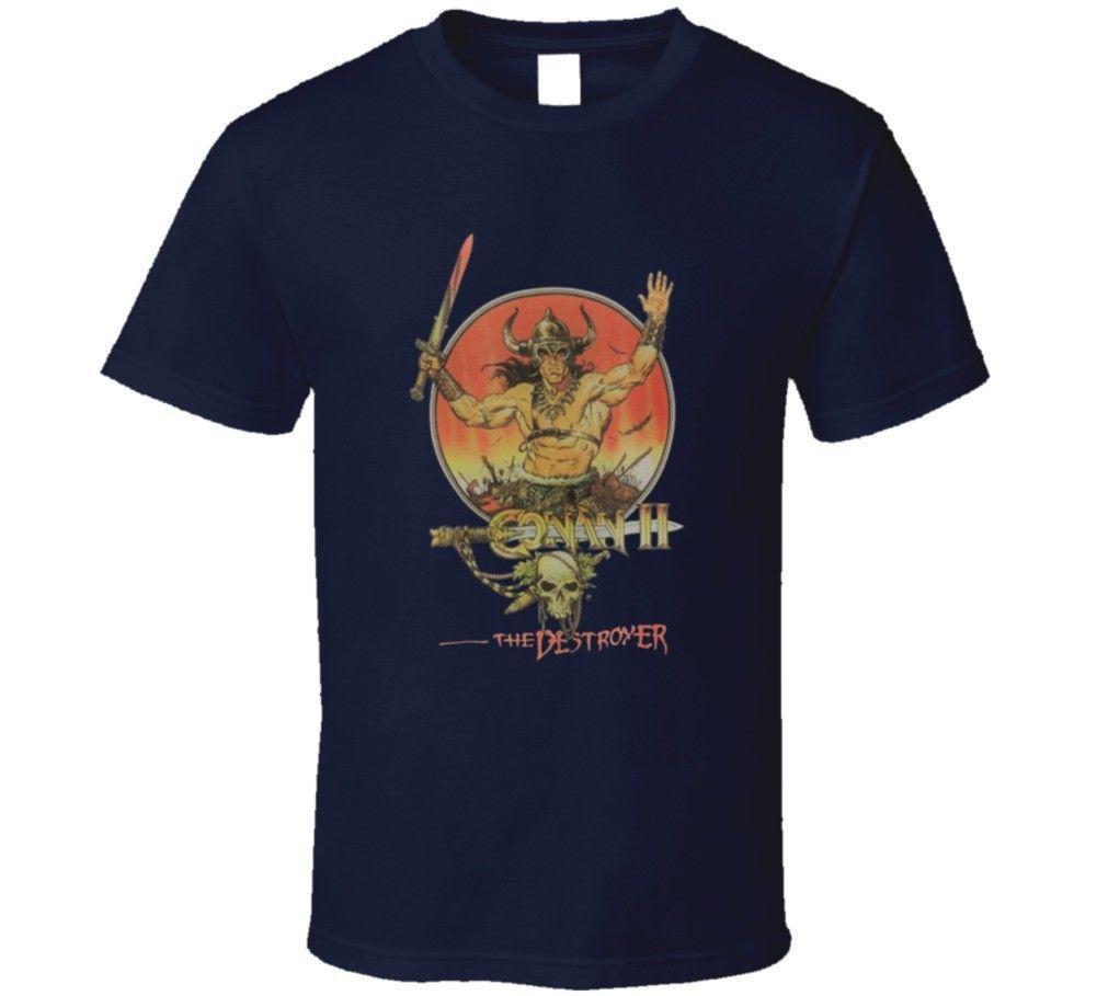 8f46d907d Conan The Destroyer Schwarzenegger Sci Fi Movie T Shirt Men Women Unisex  Fashion Tshirt Vintage T Shirts Band T Shirts From Designtshirts201809, ...