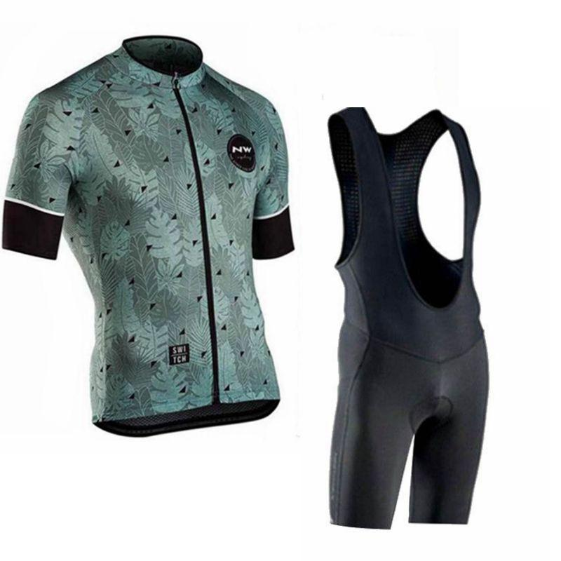 2019 Pro Team NW Cycling Jersey Set MTB Bike Clothing Ropa Ciclismo Bicycle Wear Clothes Mens Short Maillot Culott 014763