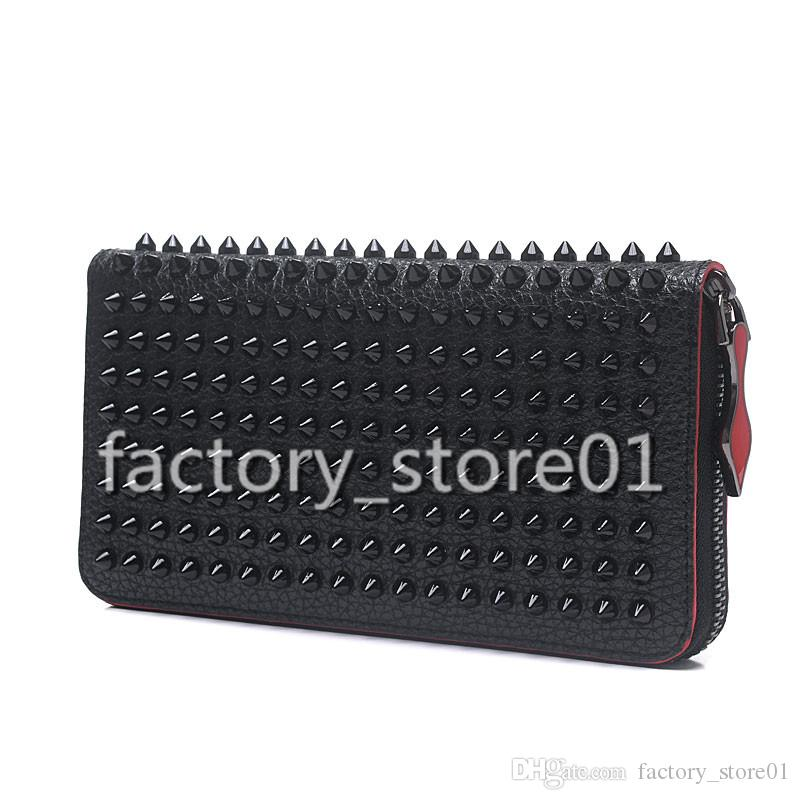 2019 New Fashion Women's Clutch Bag Genuine Leather Women Envelope Studded Spikes Bag Clutch Evening Bag Female Clutches Handbag