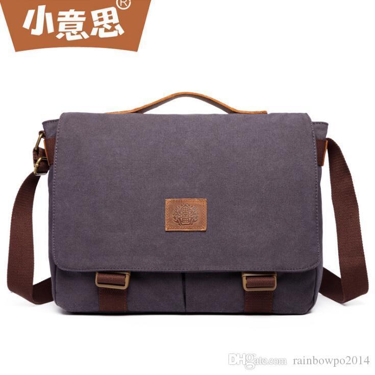 Wholesale Brand Men Handbag Fashion Belt Decoration Men Mailman Bag Outdoor  Canvas Multifunctional Shoulder Bag Casual Leather Messenger Bag Backpack  Purse ... 75f01286c76dc