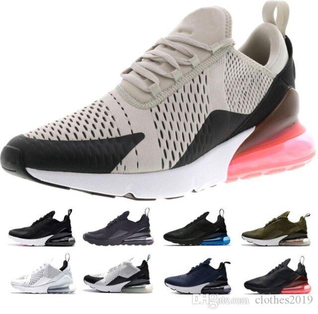 5f86073c88f0 Cheap Men New 270 Running Shoes Tiger Cactus Triple Black White Pink ...