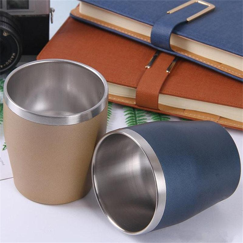 Steel 304 Travel Beer Tea Mug Stainless Handy Coffee Cups Insulated 10oz Cup Vacuum Wine Mugs Wall Portable Double UMSzVpqG