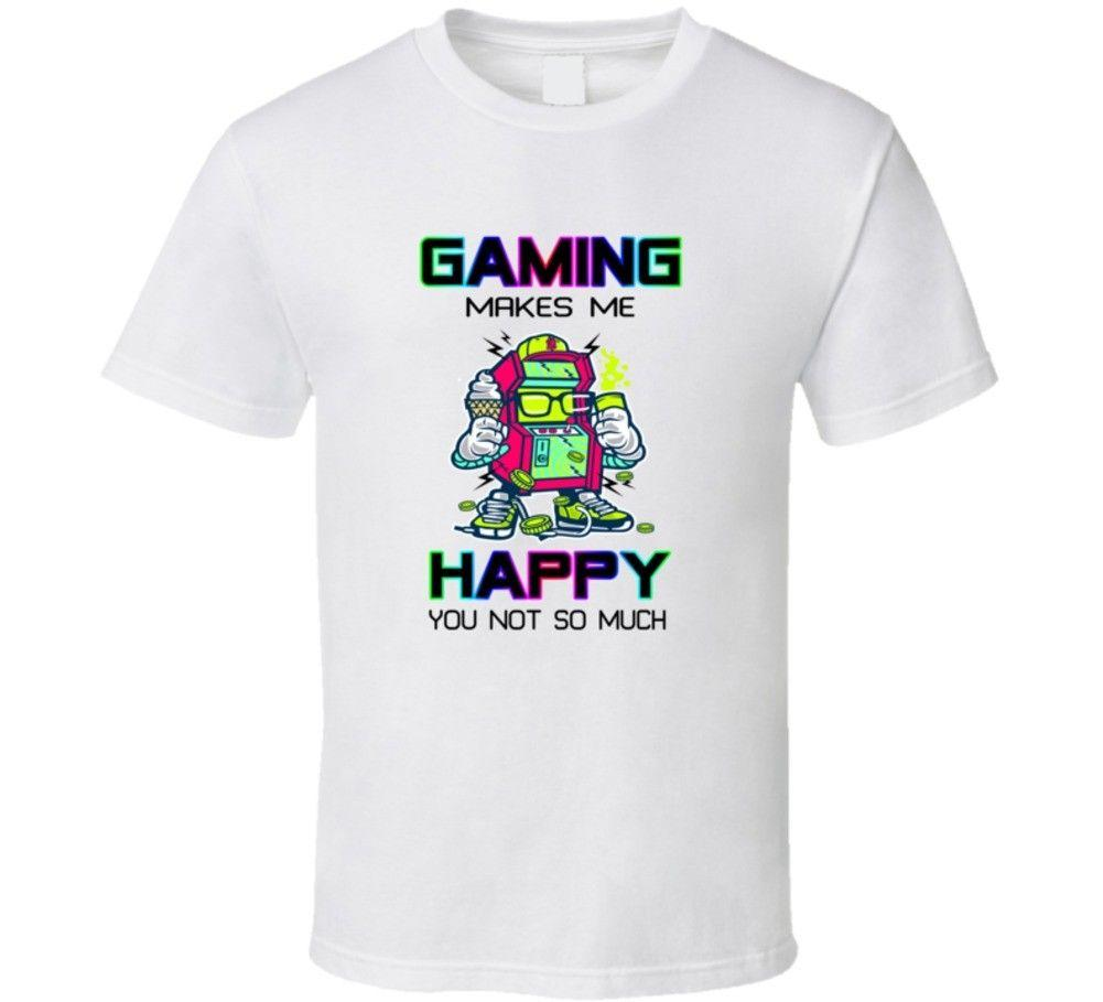 d912a337d34 Gaming Makes Me Happy Funny Cartoons Unisex Tee Gift Short Sleeve T Shirt  03 Men Women Unisex Fashion Tshirt Buy Tee Top T Shirt Sites From ...