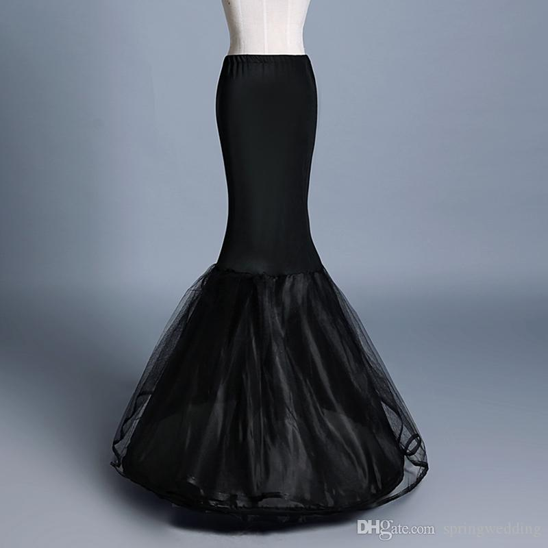 c94ccfe0d44d New Black Mermaid Petticoats Woman 1 Hoop Two Layers Tulle Underskirt  Wedding Accessories Crinoline Cheap Cpa1197 Dresses With Petticoats Girls  Petticoat ...