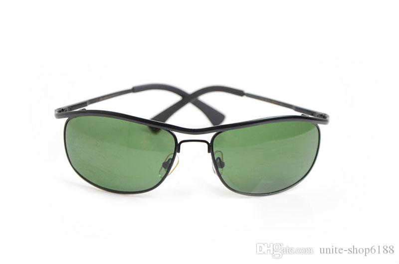 Brand New Designer Sun glasses 8012 Mens Sunglasses Brand womens glasses Green Glass Lens sunglasses Classic Brand glasses With Boxs