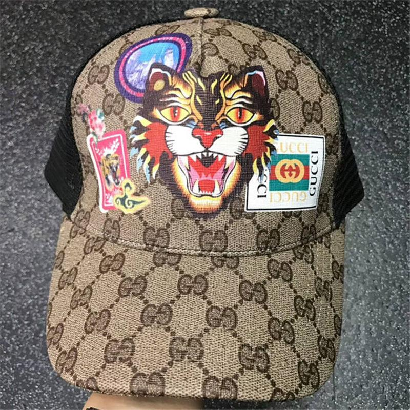 469ae91b23a3 2019 Mesh Baseball Cap With Box Summer Luxury Tiger Snapback Caps Italy  Designer Casual Hats Women Sun Hat Men Classic Visor Gorras Casquette From  ...