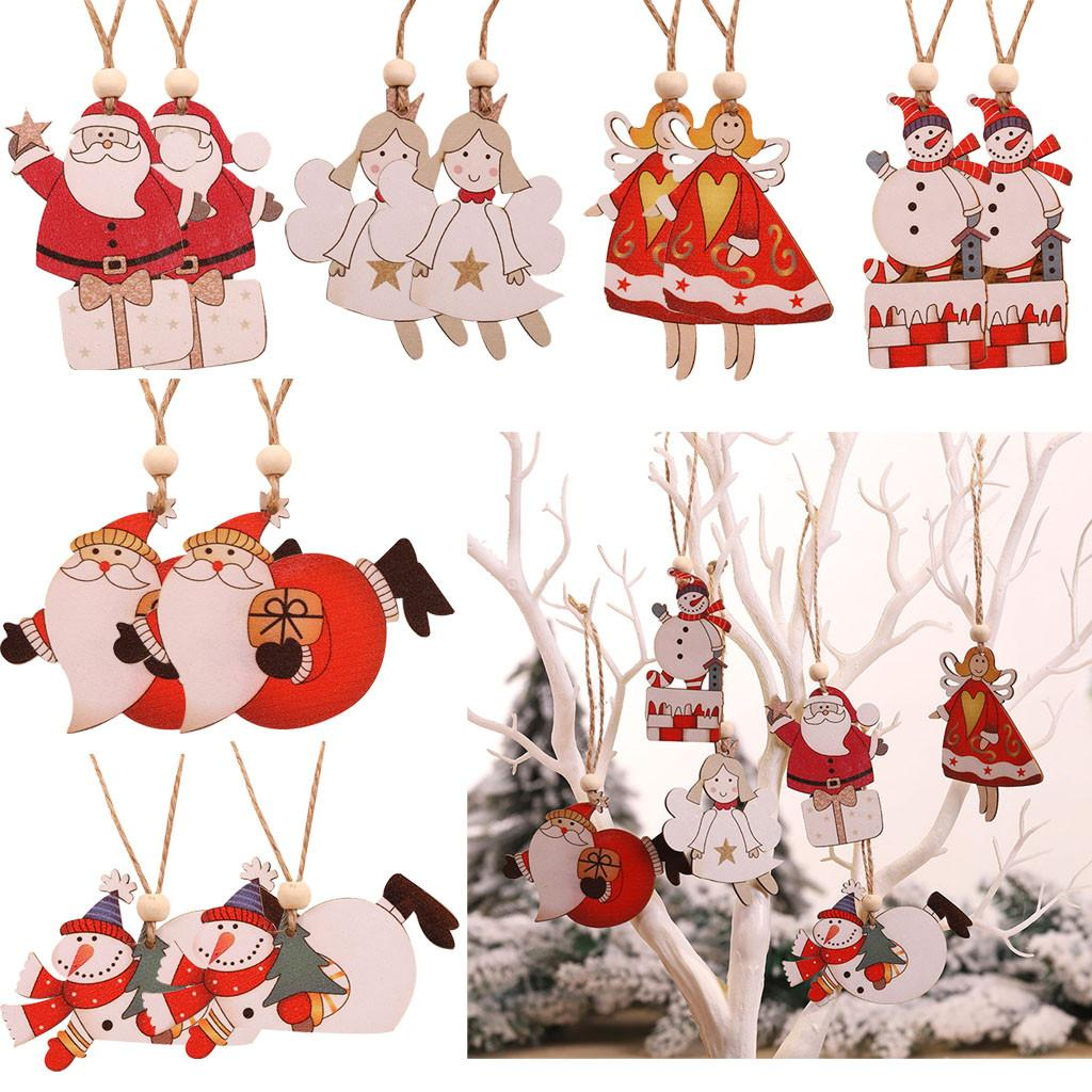 2020 Merry Christmas Ornaments Xmas Gift Santa Claus Snowman Tree Toy Doll Hang Decorations for home Enfeites De Natal A30104