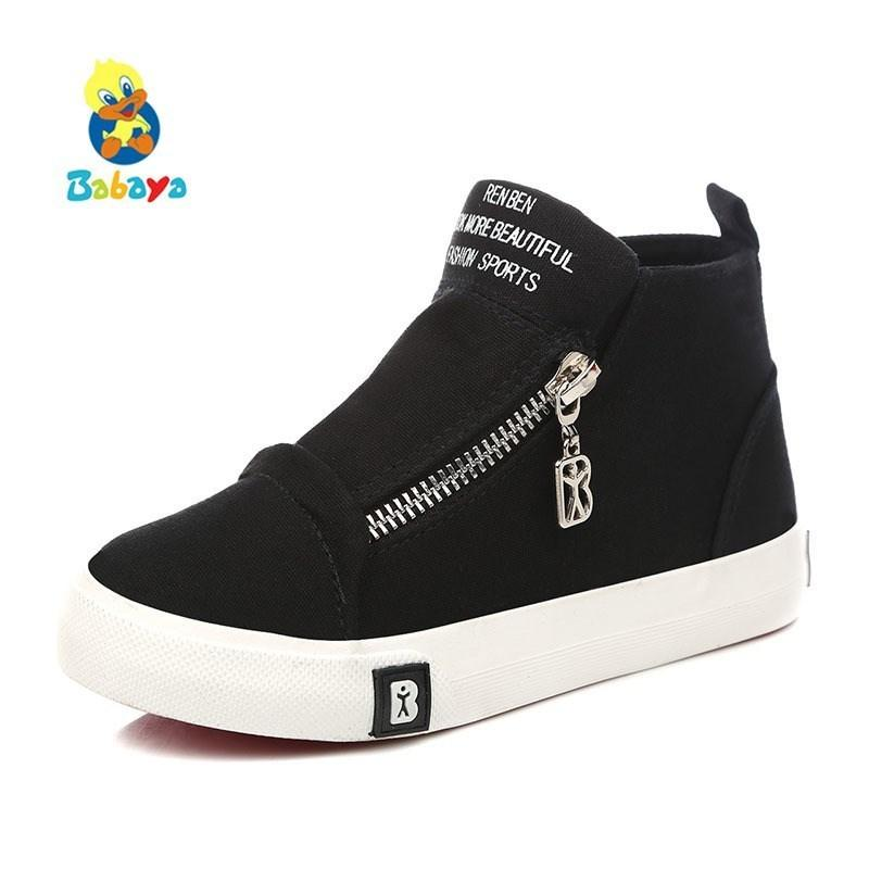 2017 New Girls Boys Shoes Kids Sport Sneakers Children Baby Toddler Canvas Shoes