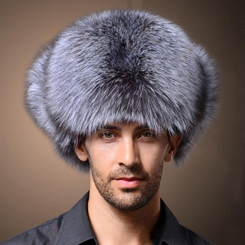 94399474b23 Naiveroo High Quality Mens Faux Fox Fur Winter Hats Lei Feng Hat ...