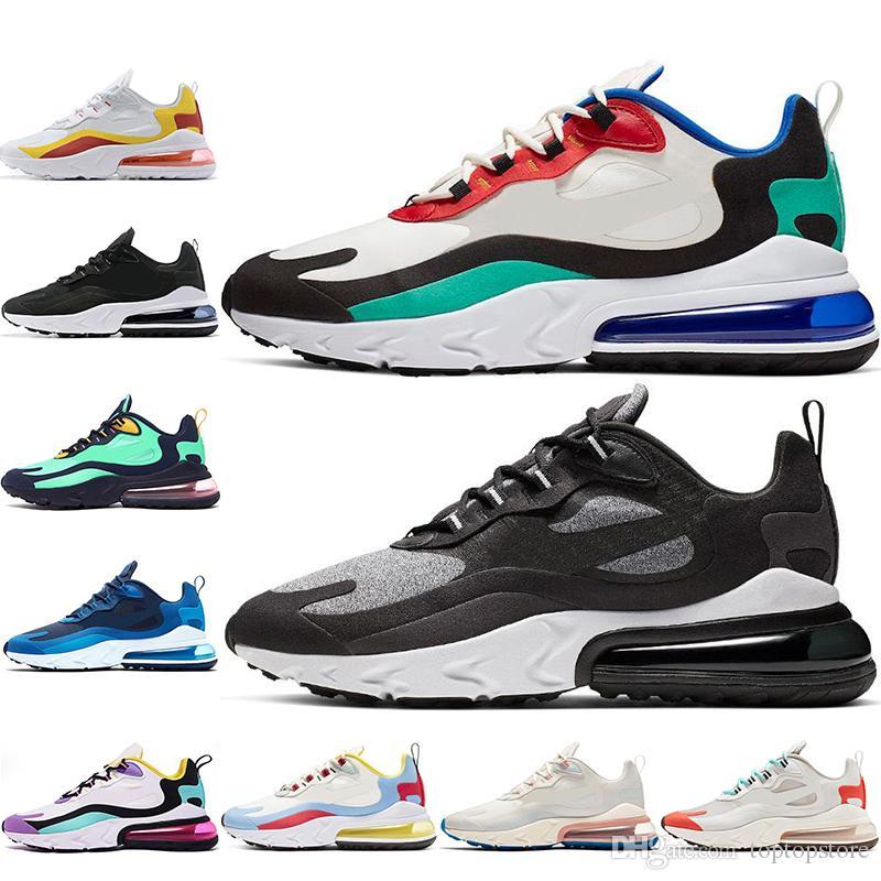 Nike air max 270 React Con calcetines 2019 Designer React Zapatillas de running para hombres mujeres BAUHAUS OPTICAL Beige RIGHT VIOLET zapatillas de
