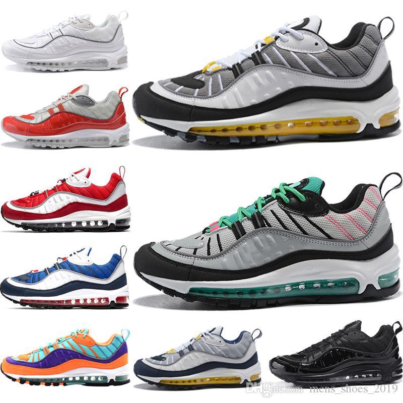 nike airmax 98 shoes Hombres Mujeres Tour Zapatillas amarillas y negras para hombre Triple Negro blanco Gundam Cone blue Zapatillas para hombre