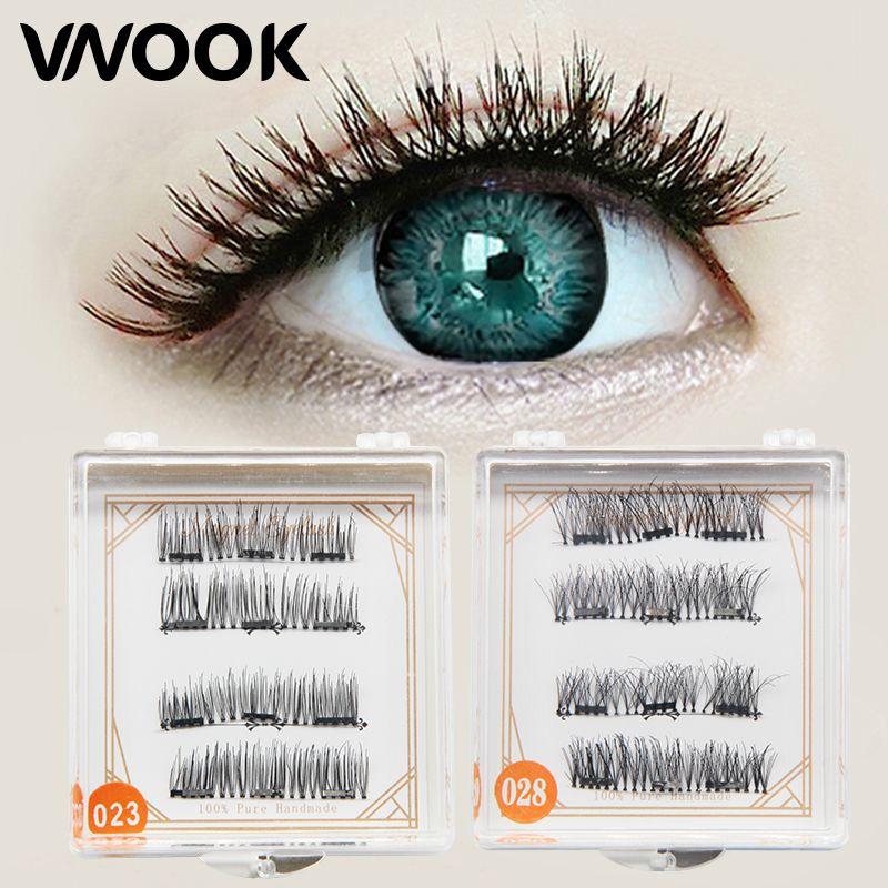 06e5c41da1c Vnook Brand Make Up Three Magnet Fake Eyelashes Natural False Magnetic Eye Lashes  Eyelash Extension Wispy Mink Lashes Makeup False Eyelashes Lash Extensions  ...