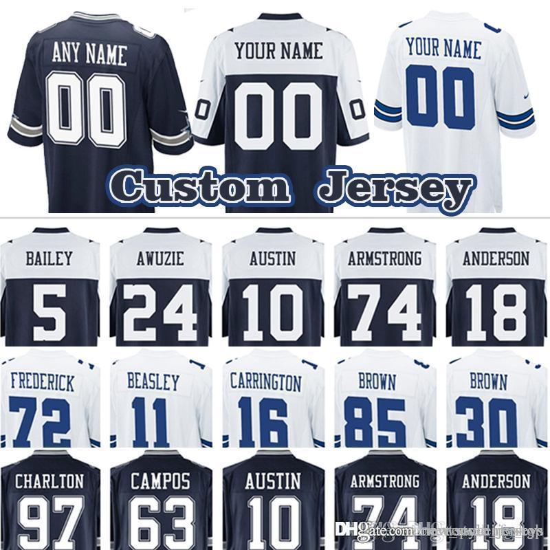 size 40 860b5 eceb0 custom Game Cowboys Dallas Cowboys jersey 88 Dez Bryant 18 Dres Anderson 74  Dorance Armstrong 10 Tavon Austin 5 Dan Bailey