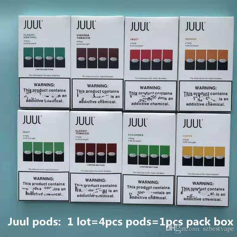 2019 High Quality Clone Pods Cartridges New Package 8 Flavors Mango