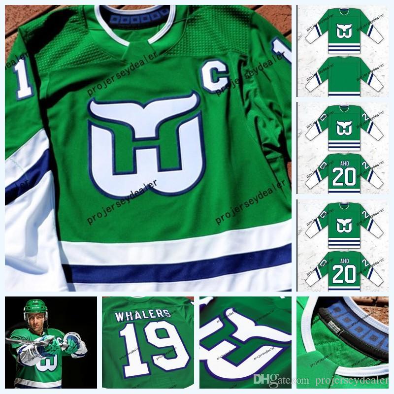 20 Sebastian Aho Hartford Whalers AD Hockey Jersey 86 Teuvo ... 8e100d0d2