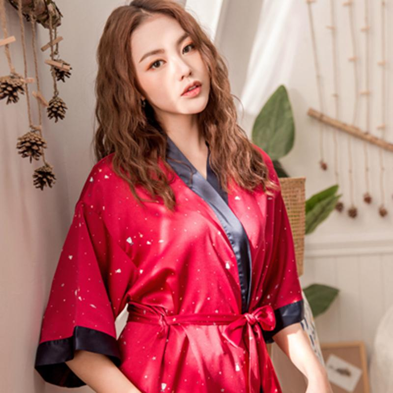 Red Wedding Song.July S Song Sleepwear Robes Red Wedding Bride Bridesmaid Robes Pajamas Woman Nightwear Bathrobe Nightdress Nightgown Faux Silk