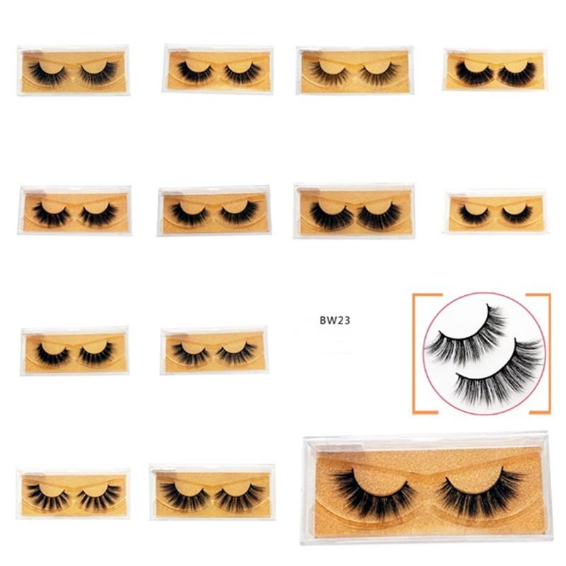 2019 New 3D Mink Eyelashes Mink Lashes Thick Long Handmade False Eyelash  Eye Makeup Eye Lashes DHL FREE