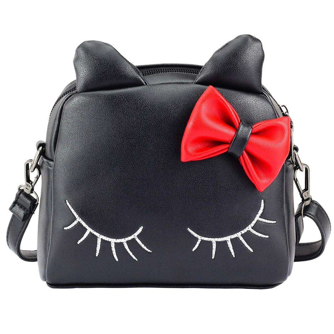c378c6de51f1 AUAU-Cute Little Girls Cat Purse for Toddler Kids Mini Bags with Bows  Crossbody Bags Cheap Crossbody Bags AUAU Cute Little Girls Cat Purse for  Online with ...