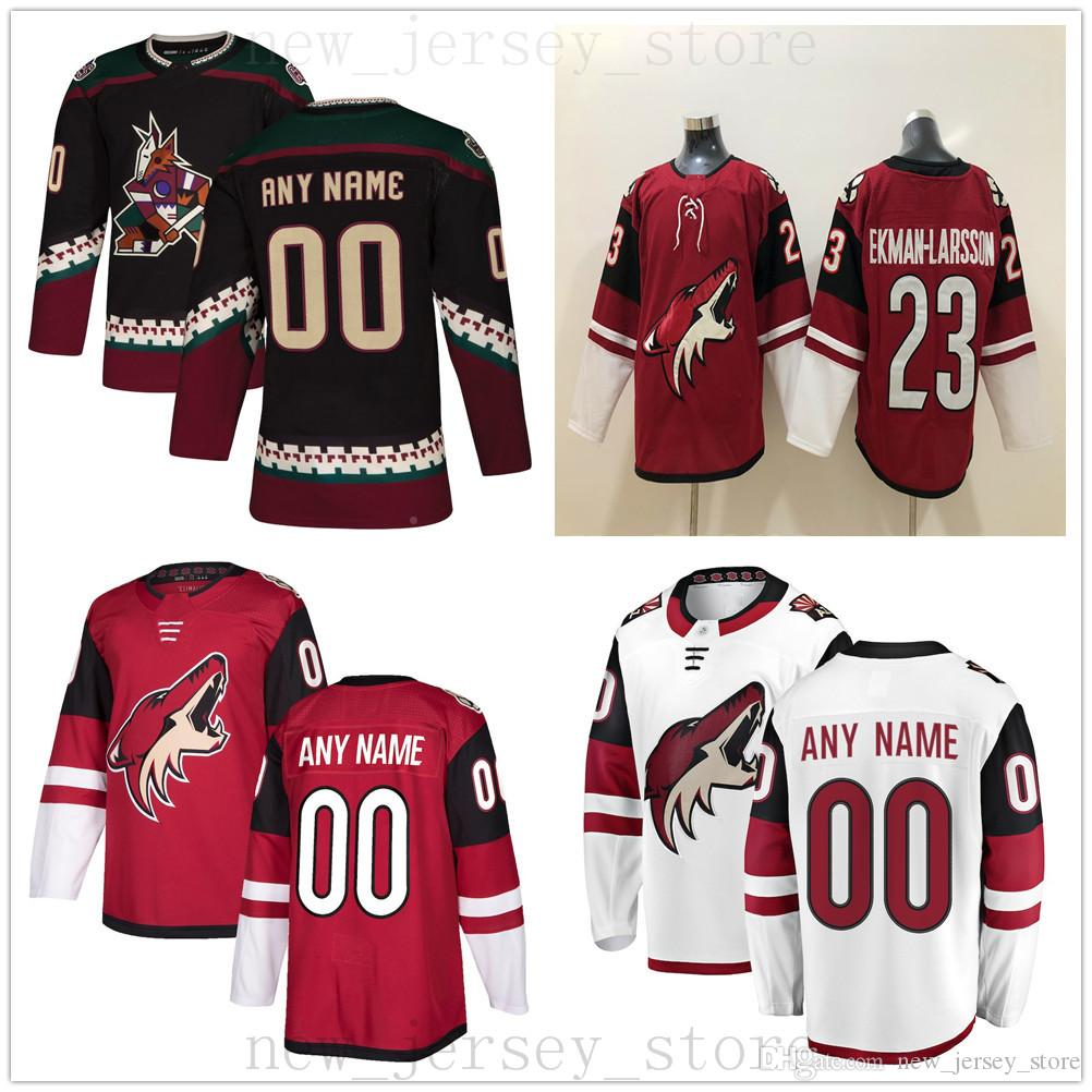 online store 9a6d8 02cf9 Custom Arizona Coyotes Hockey Jerseys 45 Josh Archibald 58 Bunting 44 Kevin  Connauton 25 Nick Cousins 67 Lawson Crouse 31 Adin Hill Jersey