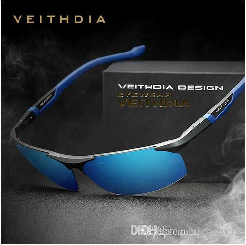 9dd77c26db6 Brand-VEITHDIA Aluminum Magnesium Sunglasses Polarized Sports Men ...