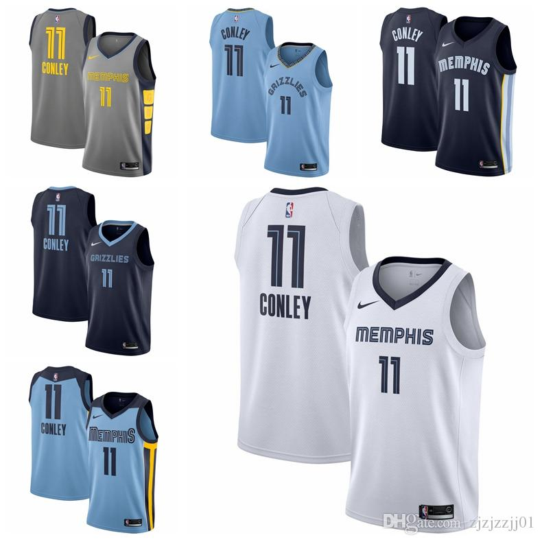 sports shoes 1e16c f69e9 2019 11 Mike Conleys Grizzlies Jersey The City Memphis 33 Gasols Mike  Conleys 11 Basketball Jersey NEW