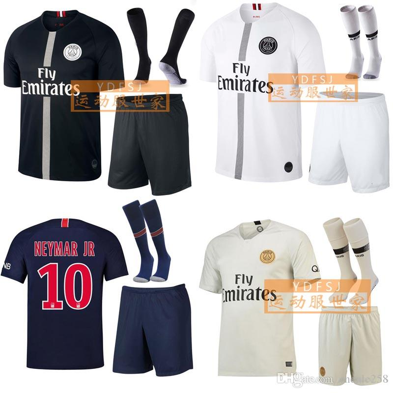 9659fbc4a 2019 Psg Kids Mens Kit Soccer Jersey MBAPPE 2018 2019 Children Boy Young Football  Uniform Free DHL Shipping Above From Chenle258