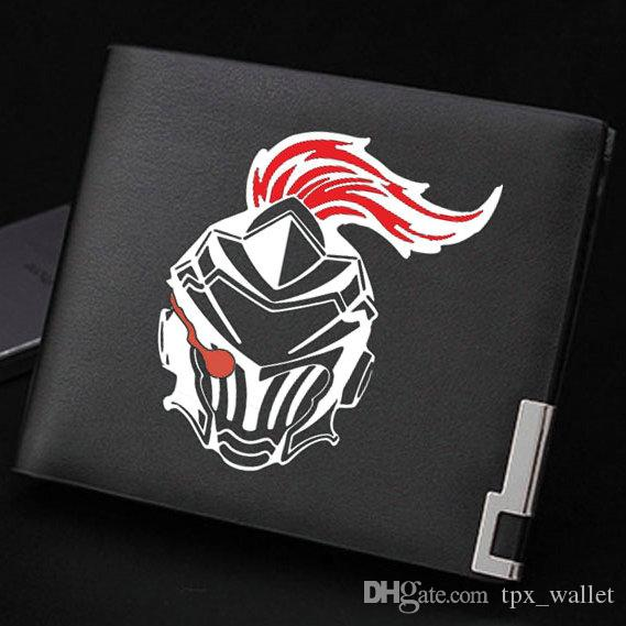 Goblin Slayer wallet Cool warrior anime purse Cartoon soldier short cash note case Money notecase Leather burse bag Card holders