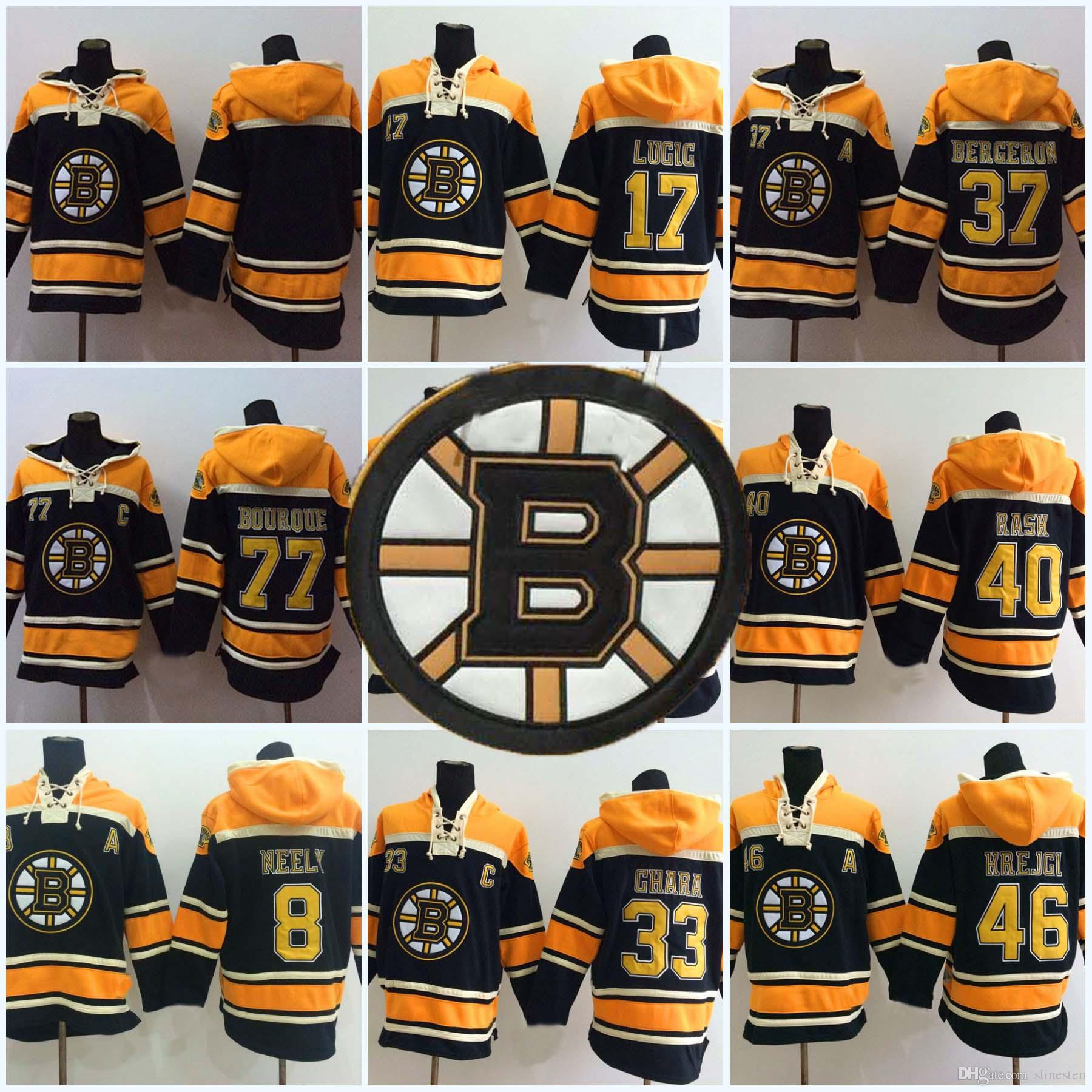f4cb90fcd94 2019 Hockey Jerseys Cheap 40 Tuukka Rask 8 Cam Neely 17 Milan Lucic 22  Shawn Thornton 46 David Krejci Men'S Hoodie Sweater Hockey Jersey From  Slinesten, ...