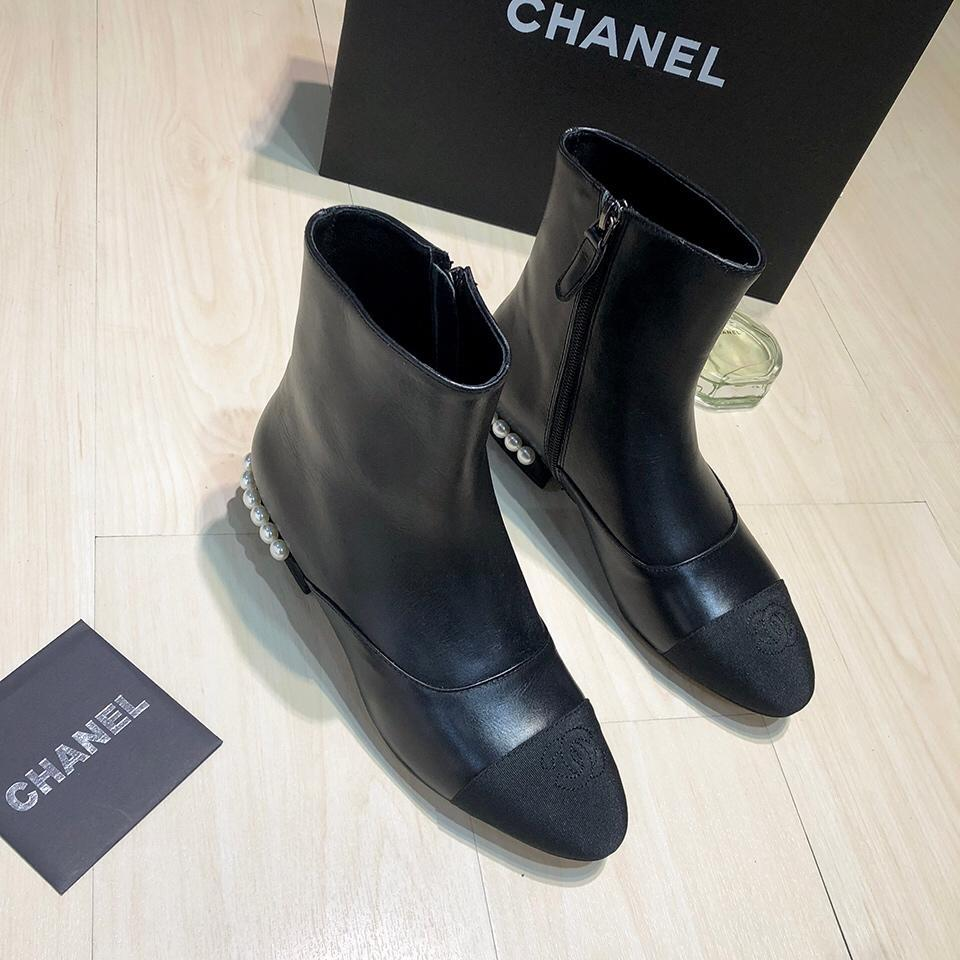 French luxury goods retailers sell CihaneI casual pearl Zip Ankle Boots  womens casual boots womens Fashion casual boots 35--40