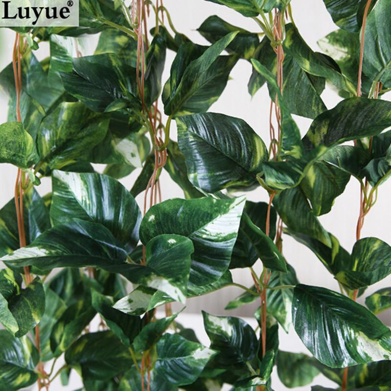 artificial ivy Luyue 250cm 5pcs/lot Artificial Ivy Garland Simulation Plants Vine Fake Leaves Foliage Flowers Wall Hanging Home decor