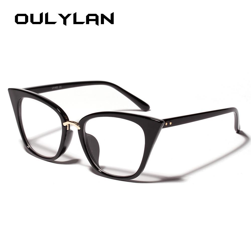 ac98b45c1 2019 Oulylan Cat Eye Glasses Frame For Women Clear Lens Eyeglasses  Oversized Optical Glasses Frame Retro Cateyes Design Spectacle From  Alley66, ...