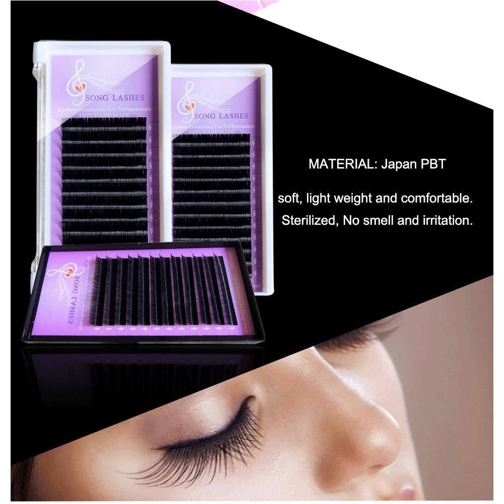 Song Lashes False Eyelash Extensions Soft Thin Tip New Products 0.03 Thickness Easy Pick Up