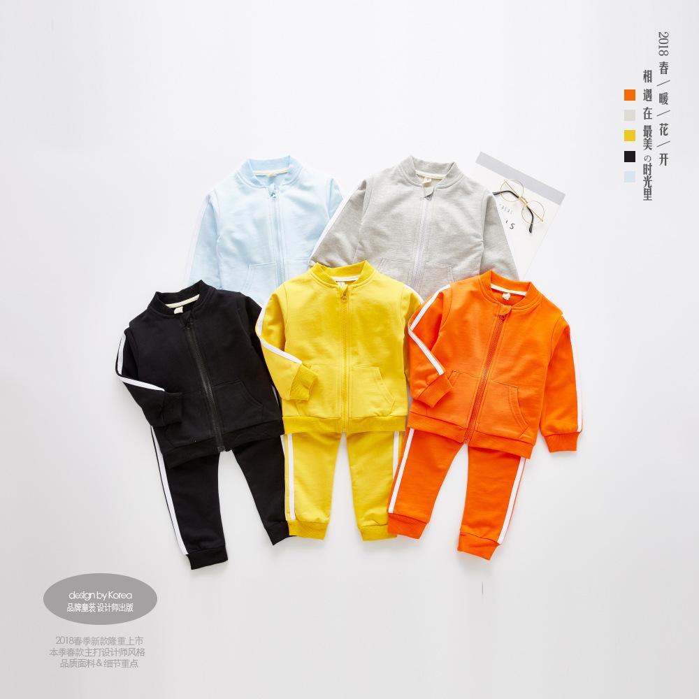 2c9c6423a 2019 Children Boys Clothing Sets Baby Girls Zipper Coat Top + Pants ...