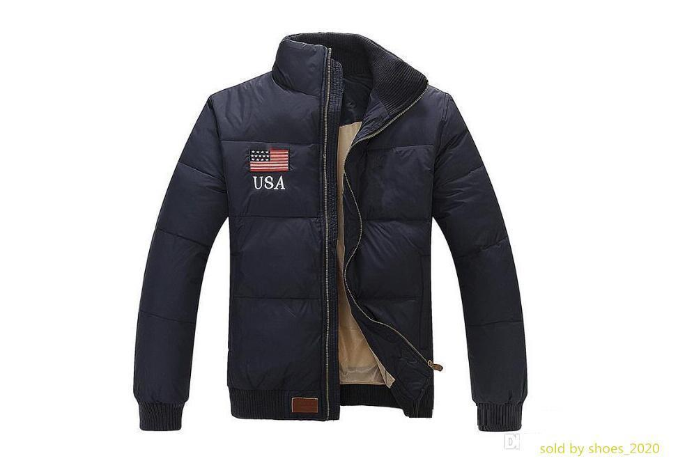 winter warm jacket Outdoor padded Polo jackets Men s down Parkas Man Outerwear Coats