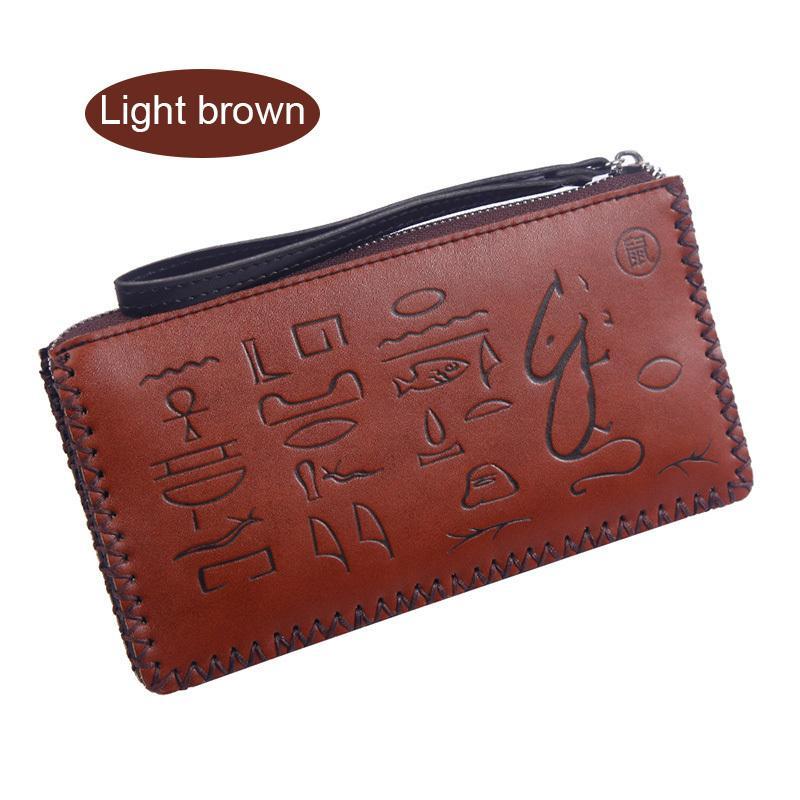 Women Long Wallet Pu Leather Zipper Purse Card Holder Handbag Lady