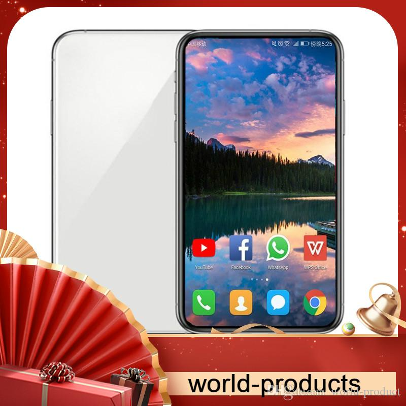 Goophone Android 11 11p Max 5.8inch 6.1inch 6.5inch pro 64bit 3 Cameras Face ID 1GB/16GB 3G WCDMA Show 4G LTE smartphone débloqué sbloccato
