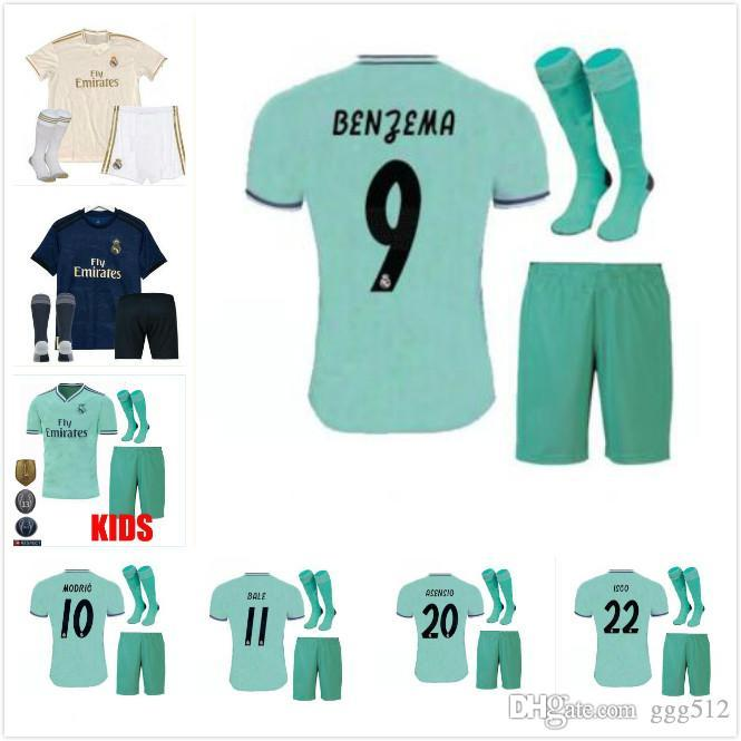 99476d139 2019 19 20 Real Madrid Kids Soccer Jersey Kits Boys Child Third 2019 ...