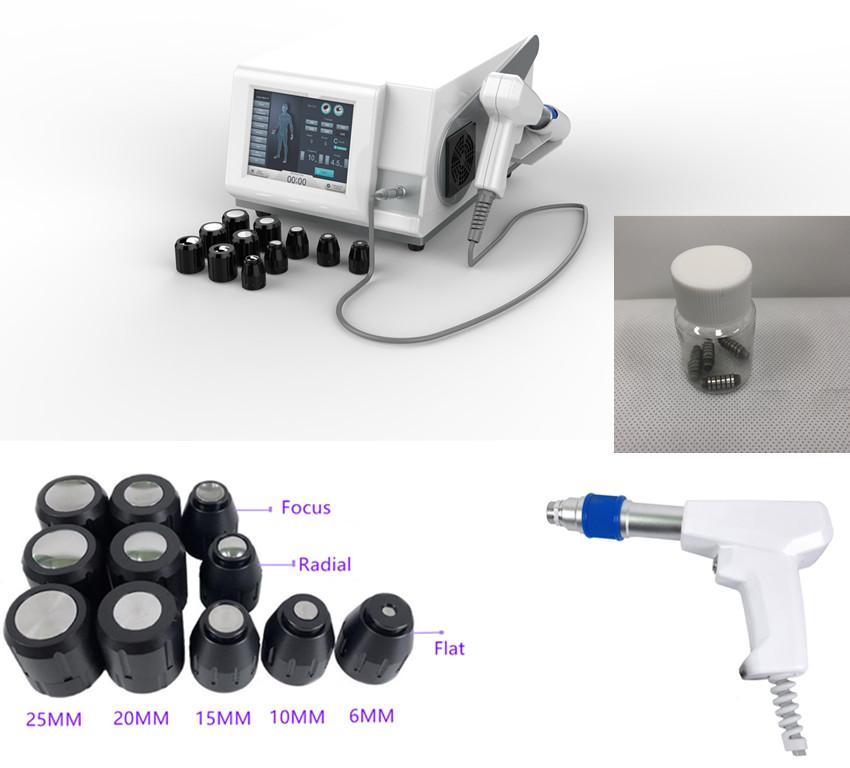 Tragbare Schockwelle physikalische Therapie Gesundheitszentrum therapeutische Maschine / tragbare Radiale Stoßwellentherapie mit max bis 6 bar