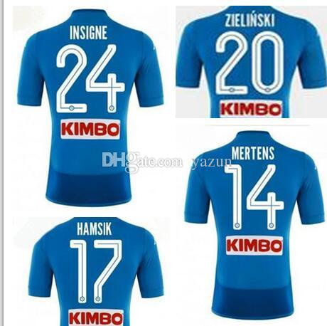 ad9b22ee6 2019 Customized Mens 18 19 Napoli Home Soccer Thai Quality Soccer Jersey  Shirts