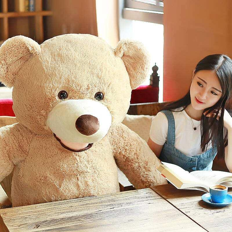 [ TOP ] 130cm Huge big America bear Stuffed animal teddy bear cover plush soft doll pillow cover ( without stuff ) baby toys