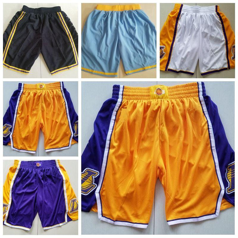 8eb7f127d0fc Lakers Shorts 23 Lebron Basketball Pants White Yellow Blue Purple  Basketball Jerseys Basketball Jerseys Men Jersey Online with  33.8 Piece on  ...