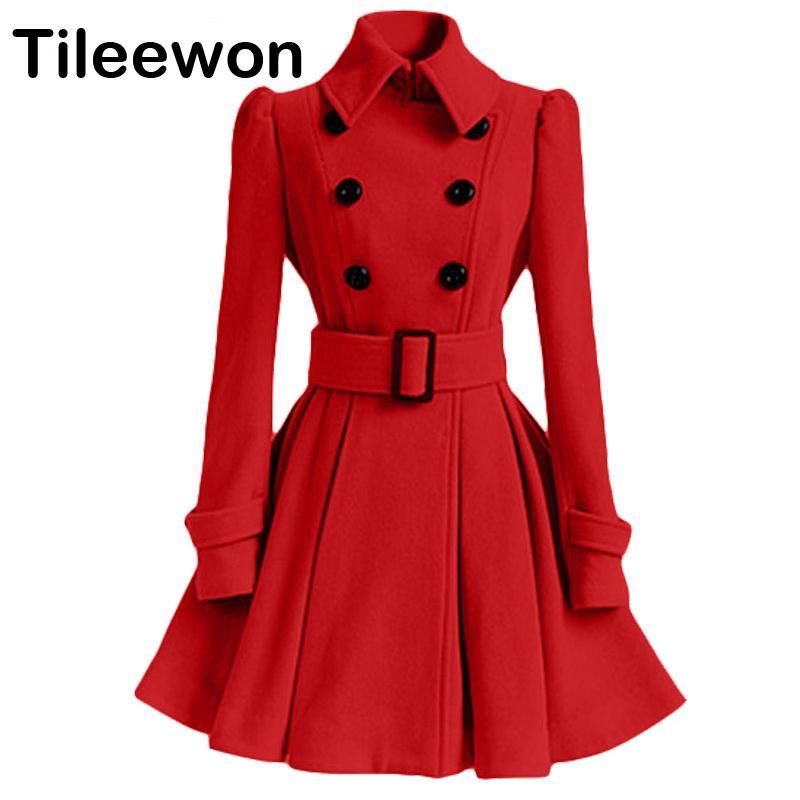 size 40 002d3 2d2e4 Primavera Autunno Inverno Cappotto Donna 2019 Moda Slim Vintage Giacca  doppio petto Donna Elegante lungo rosso caldo Blazer femminile Mujer