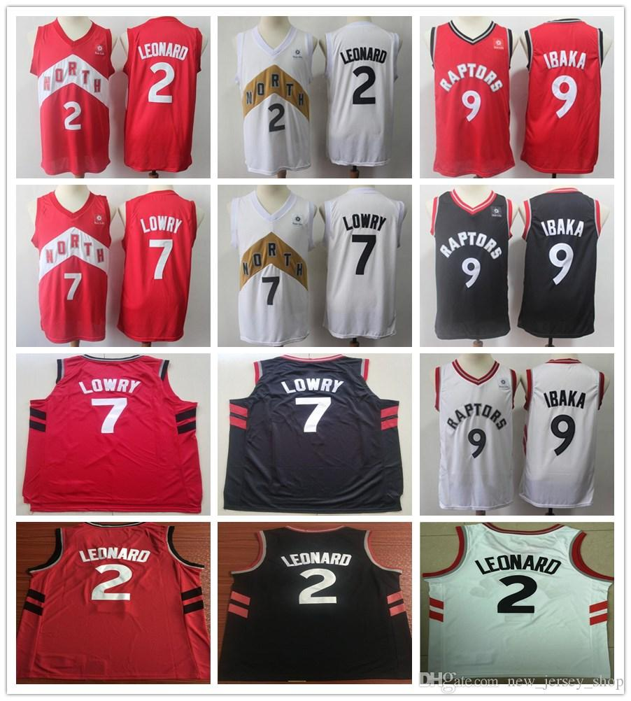 100% authentic f1003 4c445 2019 New Earned City Edition 2 Kawhi Leonard Jersey Red White Black 7 Kyle  Lowry Jerseys 9 Serge Ibaka Stitched Shirt Fast Shipping