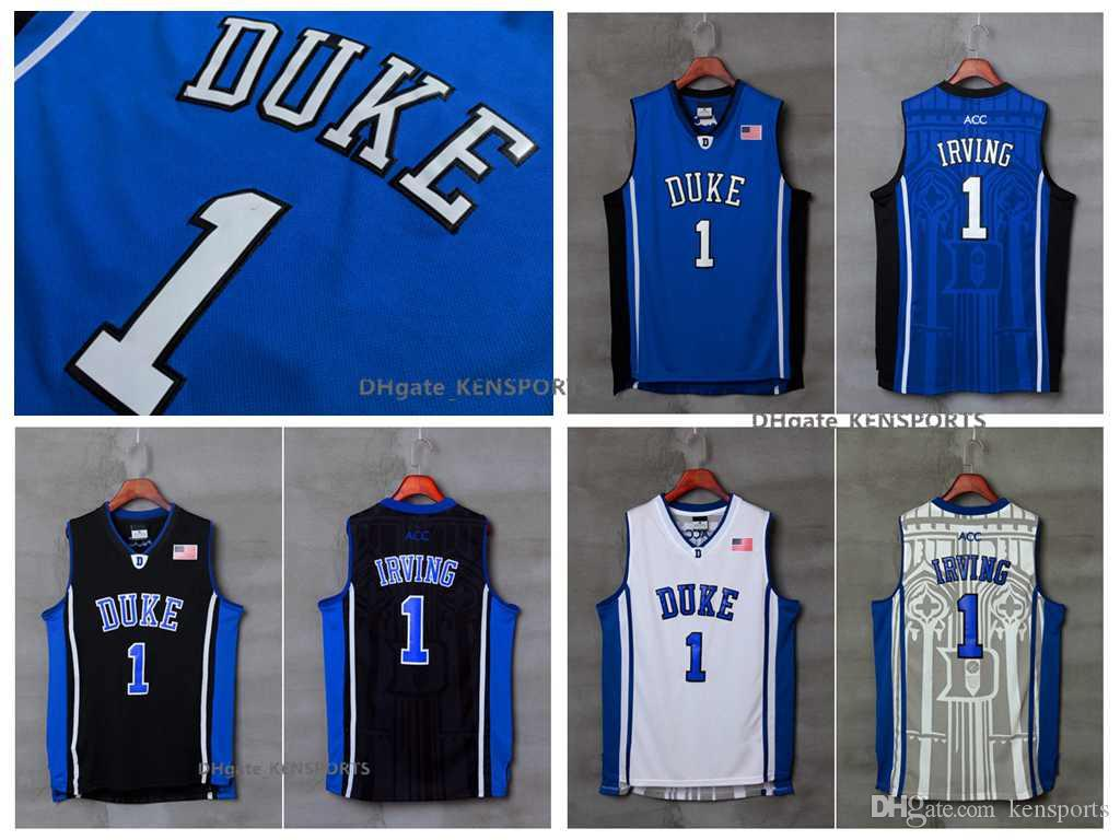 ... sale 2018 mens duke blue devils kyrie irving college basketball jersey  cheap blue black 1 kyrie 13e5dfad9